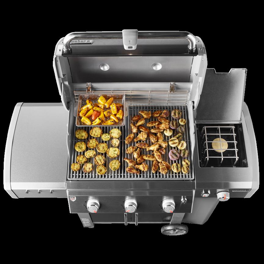 Genesis ii lx s 340 gas grill weber grills wood - Barbecue weber genesis 2 ...
