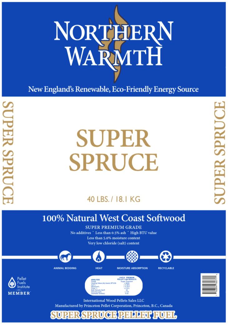 Northern Warmth Super Spruce Pellets